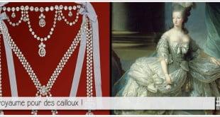 reconstitution du collier de la reine, célèbre affaire d'escroquerie orchestrée par la comtesse jeanne de la motte-valois