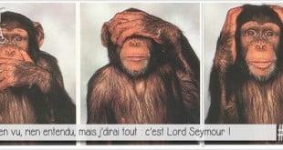 singes jene vois rien, je n'entends rien, je ne dis rien pour illustrer l'article par ci par là PCPL dédié à Milord arsouille Lord Seymour