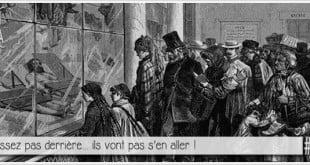 vitrine de la morgue de paris en 1855