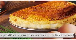 omelette de la mère poulard pour l'article parciparla.fr consacré à l'histoire de l'arrestation de Condorcet