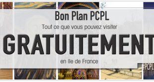 illustration PCPL parciparla.fr pour l'article dédié aux monuments, chateaux, édifices religieux, musées gratuits en Idf à certaines dates
