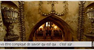 détail de l'ossuaire de sedlec pour illustrer l'article parciparla.fr dédié à cette étrange décoration