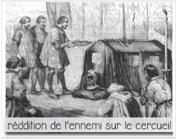 gravure de la réddition de chateauneuf de randon sur le cercueil de Du Guesclin pour parciparla.fr