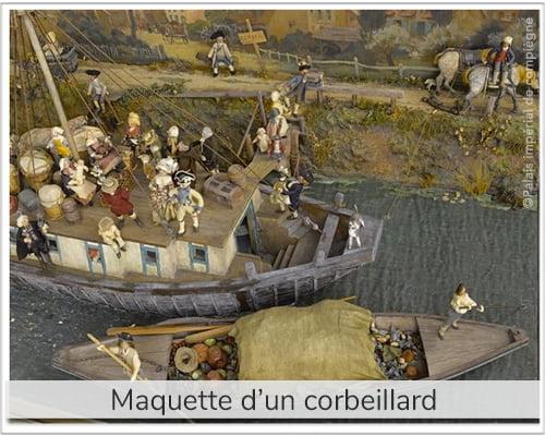 maquette d'un corbillard visible au palais impérial de compiègne pour illustrer le p'tit quizz pcpl dédié à l'origine du mot corbillard